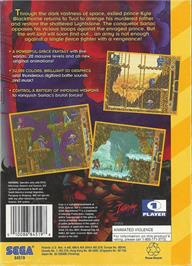 Box back cover for Blackthorne on the Sega 32X.