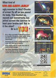 Box back cover for Cosmic Carnage on the Sega 32X.