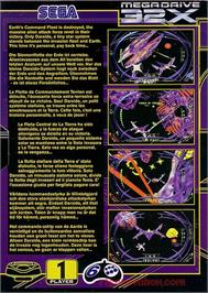 Box back cover for Darxide on the Sega 32X.