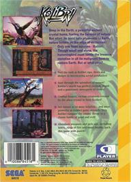 Box back cover for Kolibri on the Sega 32X.