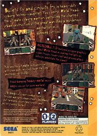 Box back cover for Metal Head on the Sega 32X.