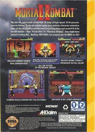 Box back cover for Mortal Kombat II on the Sega 32X.