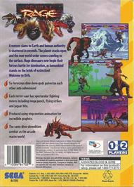 Box back cover for Primal Rage on the Sega 32X.