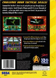 Box back cover for Star Trek Starfleet Academy - Starship Bridge Simulator on the Sega 32X.