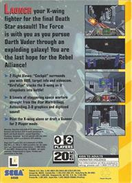 Box back cover for Star Wars Arcade on the Sega 32X.
