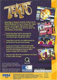 Box back cover for Tempo on the Sega 32X.