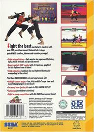 Box back cover for Virtua Fighter on the Sega 32X.