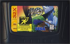 Cartridge artwork for Kolibri on the Sega 32X.