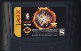 Cartridge artwork for NBA Jam TE on the Sega 32X.