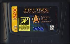 Cartridge artwork for Star Trek Starfleet Academy - Starship Bridge Simulator on the Sega 32X.