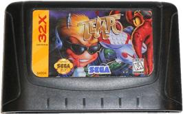 Cartridge artwork for Tempo on the Sega 32X.