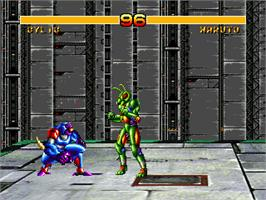 In game image of Cosmic Carnage on the Sega 32X.
