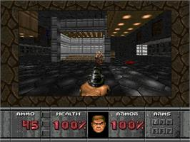 In game image of Doom on the Sega 32X.