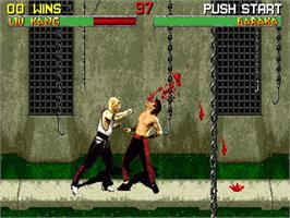 In game image of Mortal Kombat II on the Sega 32X.