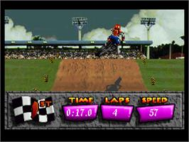 In game image of Motocross Championship on the Sega 32X.