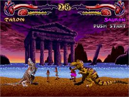 In game image of Primal Rage on the Sega 32X.