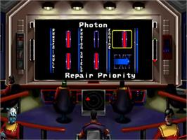 In game image of Star Trek Starfleet Academy - Starship Bridge Simulator on the Sega 32X.