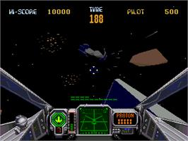 In game image of Star Wars Arcade on the Sega 32X.