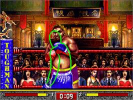 In game image of Toughman Contest on the Sega 32X.