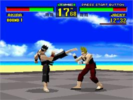 In game image of Virtua Fighter on the Sega 32X.