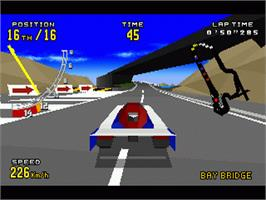 In game image of Virtua Racing Deluxe on the Sega 32X.