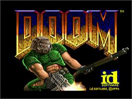 Title screen of Doom on the Sega 32X.