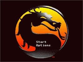 Title screen of Mortal Kombat II on the Sega 32X.