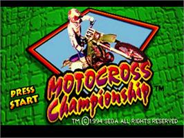 Title screen of Motocross Championship on the Sega 32X.