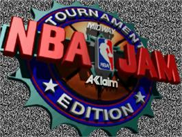 Title screen of NBA Jam TE on the Sega 32X.