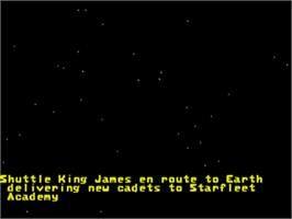 Title screen of Star Trek Starfleet Academy - Starship Bridge Simulator on the Sega 32X.