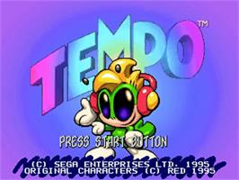 Title screen of Tempo on the Sega 32X.