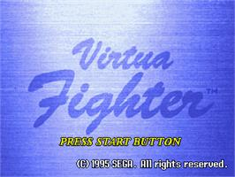 Title screen of Virtua Fighter on the Sega 32X.