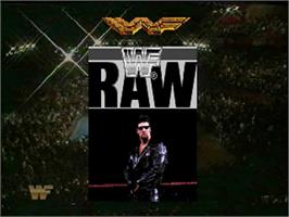 Title screen of WWF Raw on the Sega 32X.