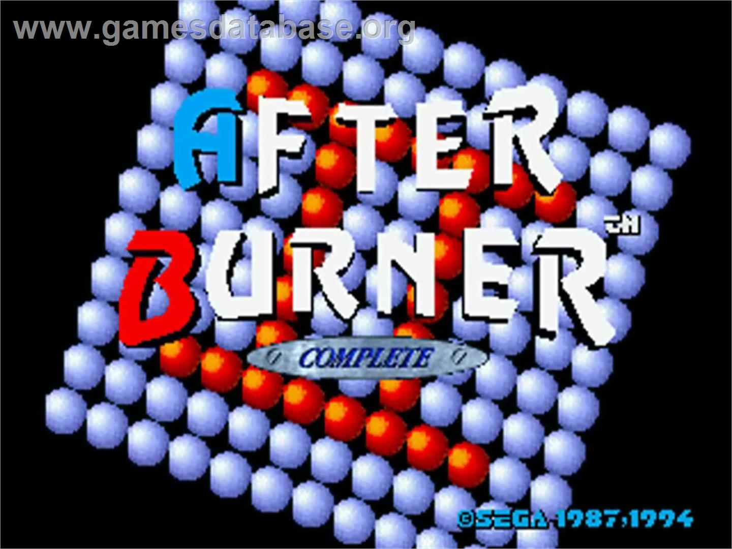 After Burner - Sega 32X - Artwork - Title Screen
