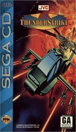 Box cover for AH-3 Thunderstrike on the Sega CD.