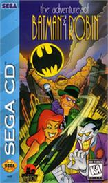 Box cover for Adventures of Batman & Robin on the Sega CD.