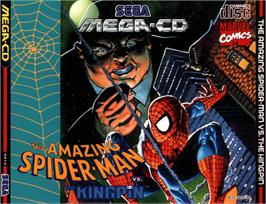 Box cover for Amazing Spider-Man vs. The Kingpin on the Sega CD.
