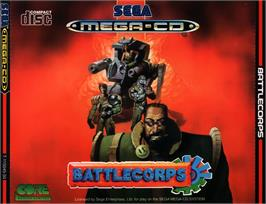 Box cover for Battlecorps on the Sega CD.