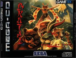 Box cover for Brutal: Paws of Fury on the Sega CD.