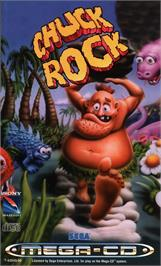 Box cover for Chuck Rock on the Sega CD.