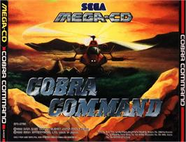 Box cover for Cobra Command on the Sega CD.