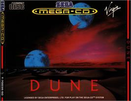 Box cover for Dune on the Sega CD.