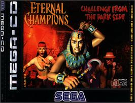 Box cover for Eternal Champions: Challenge from the Dark Side on the Sega CD.