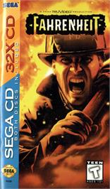 Box cover for Fahrenheit on the Sega CD.