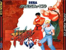 Box cover for Final Fight CD on the Sega CD.