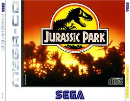 Box cover for Jurassic Park on the Sega CD.