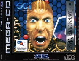 Box cover for Lawnmower Man on the Sega CD.