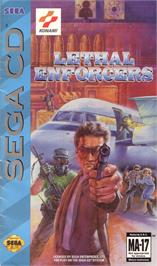 Box cover for Lethal Enforcers on the Sega CD.