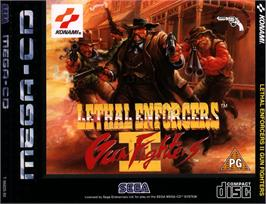 Box cover for Lethal Enforcers II: Gun Fighters on the Sega CD.