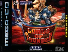 Box cover for Lords of Thunder on the Sega CD.